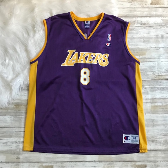 78b875a35e0 Champion Shirts | Vintage Los Angeles Lakers Kobe Bryant 8 Jersey ...